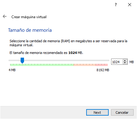 CONFIGURAR MEMORIA RAM VIRTUAL BOX